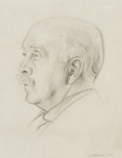 Sir Max Beerbohm, by William Rothenstein - NPG 4141