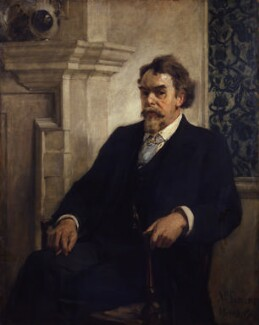 John Francis Bentley, by William Christian Symons - NPG 4479