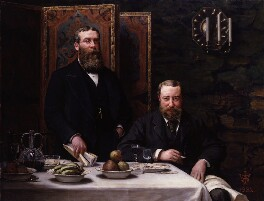 Sir Walter Besant; James Rice, by Archibald John Stuart Wortley, 1882 - NPG 2280 - © National Portrait Gallery, London