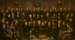 Chess players, by Anthony Rosenbaum - NPG 3060