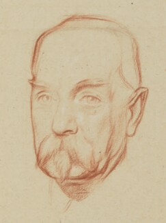 Sir Reginald Theodore Blomfield, by William Rothenstein - NPG 4764