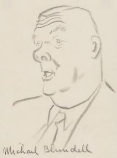 Sir Michael Blundell, by Sir David Low - NPG 4529(40)