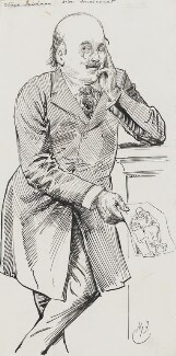 Dion Boucicault, by Harry Furniss - NPG 3554