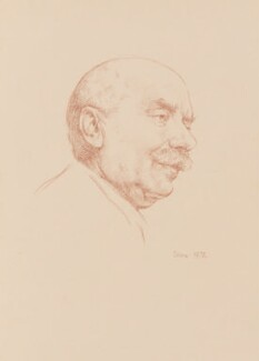 Sir Adrian Boult, by Richard Stone - NPG 4906