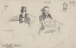 Three sketches, by Sydney Prior Hall,  - NPG 2316 - © National Portrait Gallery, London