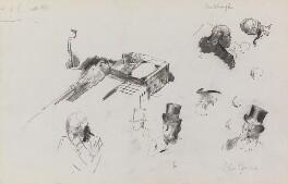 Charles Bradlaugh; John Bright, by Sydney Prior Hall - NPG 2332