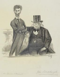 Robert Bontine Cunninghame Graham; Charles Bradlaugh, by Sir Francis Carruthers Gould ('F.C.G.') - NPG 2868