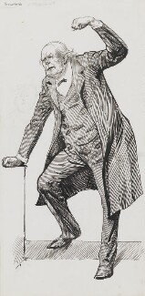 Charles Bradlaugh, by Harry Furniss - NPG 3555