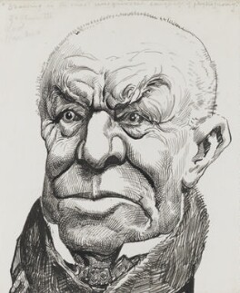 Henry Hawkins, Baron Brampton, by Harry Furniss - NPG 3466