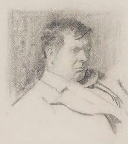 Sir Frank Brangwyn, by Philip William ('Phil') May, circa 1895 - NPG 4057 - © National Portrait Gallery, London