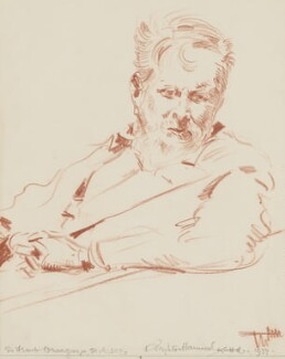Sir Frank Brangwyn, by Arthur Henry Knighton-Hammond - NPG 4374