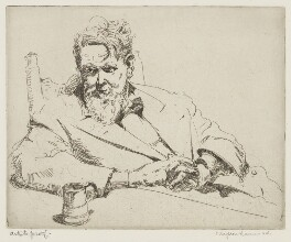 Sir Frank Brangwyn, by Arthur Henry Knighton-Hammond - NPG 4373