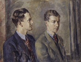 Peter Pears; Benjamin Britten, by Kenneth Green, 1943 - NPG 5136 - © National Portrait Gallery, London