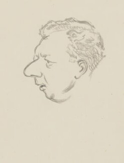 Benjamin Britten, by Sir David Low, 1952 or before - NPG 4529(60) - © Solo Syndication Ltd