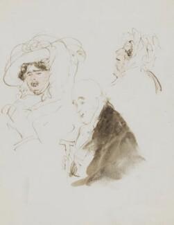 Elizabeth Vassall Fox (née Vassall), Lady Holland; Henry Richard Fox (later Vassall), 3rd Baron Holland; Mrs Brown, by Sir Edwin Henry Landseer, circa 1833 - NPG 4914 - © National Portrait Gallery, London