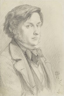 Ford Madox Brown, by Dante Gabriel Rossetti, 1852 - NPG  - © National Portrait Gallery, London