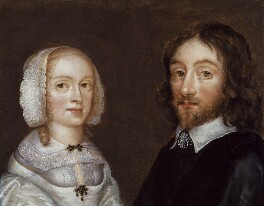 Dorothy, Lady Browne (née Mileham); Sir Thomas Browne, attributed to Joan Carlile, circa 1641-1650 - NPG 2062 - © National Portrait Gallery, London