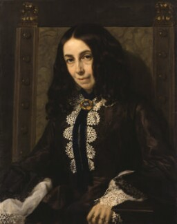 Elizabeth Barrett Browning, by Michele Gordigiani, 1858 - NPG  - © National Portrait Gallery, London