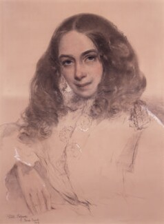 Elizabeth Barrett Browning, by Field Talfourd - NPG 322
