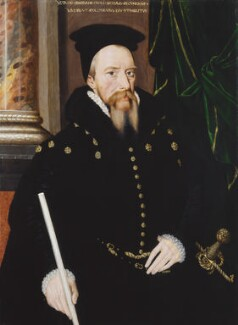 William Cecil, 1st Baron Burghley, by Unknown Anglo-Netherlandish artist, 1560s - NPG 2184 - © National Portrait Gallery, London