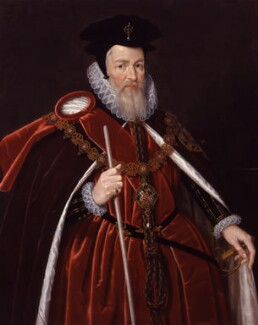 William Cecil, 1st Baron Burghley, by Unknown artist - NPG 362