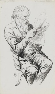Sir Edward Coley Burne-Jones, 1st Bt, by Harry Furniss, 1880s-mid 1890s -NPG 3432 - © National Portrait Gallery, London
