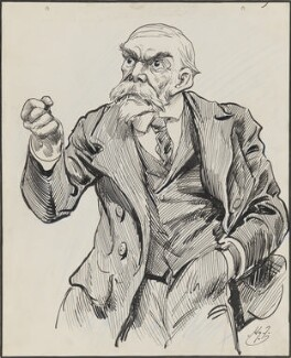 John Elliott Burns, by Harry Furniss, 1880s-1900s - NPG 3346 - © National Portrait Gallery, London