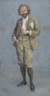 Sir (Thomas Henry) Hall Caine, by Bernard Partridge - NPG 3667