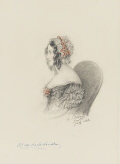 Mrs Thomas Jenkins, Baroness de Calabrella, by Alfred, Count D'Orsay - NPG 4026(19)