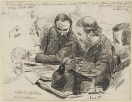 Group including Charles Stewart Parnell and H. Campbell, by Sydney Prior Hall - NPG 2242