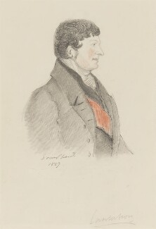 Charles Manners Sutton, 1st Viscount Canterbury, by Alfred, Count D'Orsay, 1837 - NPG 4026(11) - © National Portrait Gallery, London