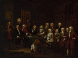 'The Gaols Committee of the House of Commons', by William Hogarth, circa 1729 - NPG 926 - © National Portrait Gallery, London