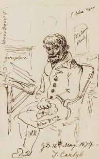 Thomas Carlyle, by Sir George Scharf, 1874 - NPG 2794 - © National Portrait Gallery, London