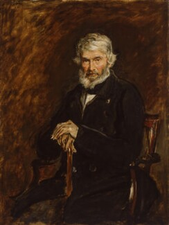 Thomas Carlyle, by Sir John Everett Millais, 1st Bt - NPG 968