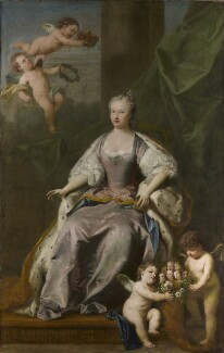 Caroline Wilhelmina of Brandenburg-Ansbach, by Jacopo Amigoni, 1735 - NPG 4332 - © National Portrait Gallery, London