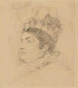 Caroline Amelia Elizabeth of Brunswick, by Sir George Hayter, 1820 - NPG 1695(b) - © National Portrait Gallery, London