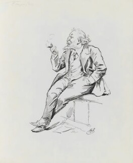 Joseph William Comyns Carr, by Harry Furniss - NPG 3438