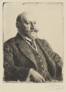 Sir Ernest Joseph Cassel, by Anders Zorn - NPG 3995