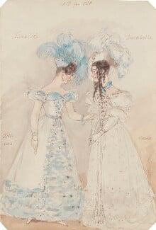 Abigail Betts; Harriet Catherine Fiddes (née Cawse), by Alfred Edward Chalon - NPG 1962(j)