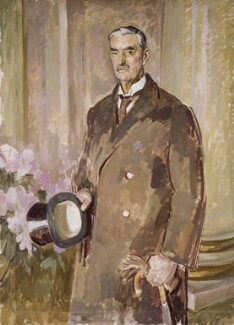 Neville Chamberlain, by Henry Lamb, circa 1939 - NPG  - © National Portrait Gallery, London