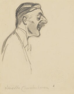 Neville Chamberlain, by Sir David Low - NPG 4529(73)