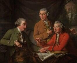 Sir William Chambers; Joseph Wilton; Sir Joshua Reynolds, by John Francis Rigaud, 1782 - NPG 987 - © National Portrait Gallery, London