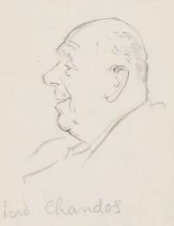 Oliver Lyttelton, 1st Viscount Chandos, by Sir David Low - NPG 4529(78)