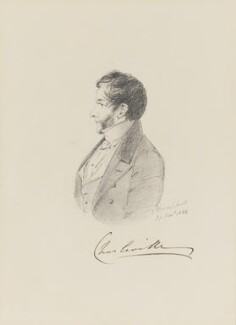 Charles William Bury, 2nd Earl of Charleville, by Alfred, Count D'Orsay, 1844 - NPG 4026(12) - © National Portrait Gallery, London