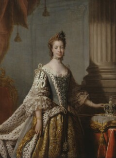 Sophia Charlotte of Mecklenburg-Strelitz, studio of Allan Ramsay, 1761-1762 - NPG  - © National Portrait Gallery, London