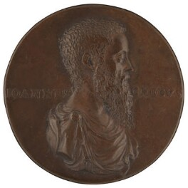 Sir John Cheke, after a medal attributed to Lodovico Leoni, 20th century, based on a work of circa 1555 - NPG 1988 - © National Portrait Gallery, London