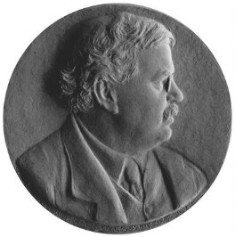 G.K. Chesterton, by Theodore Spicer-Simson, circa 1922 - NPG  - Photograph © National Portrait Gallery, London