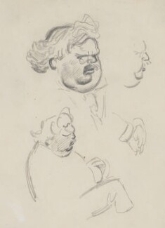 G.K. Chesterton, by Sir David Low, 1926 or before - NPG 4529(82) - © Solo Syndication Ltd