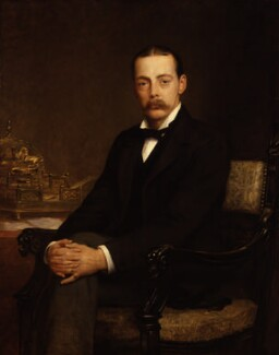 Lord Randolph Churchill, by Edwin Longsden Long, exhibited 1888 - NPG  - © National Portrait Gallery, London