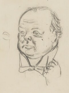 Winston Churchill, by Sir David Low, circa 1926 - NPG 4529(84) - © Solo Syndication Ltd